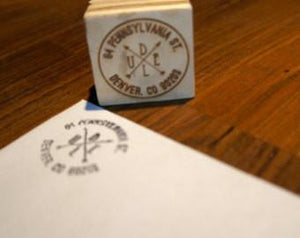 Personalized Return Address Stamp - Duel Design Studio - 1