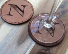 Leather Personalized Monogram Coasters - Duel Design Studio - 2