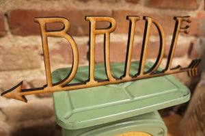 Set of Bride and Groom Wood Wedding Chair Signs - Duel Design Studio - 5