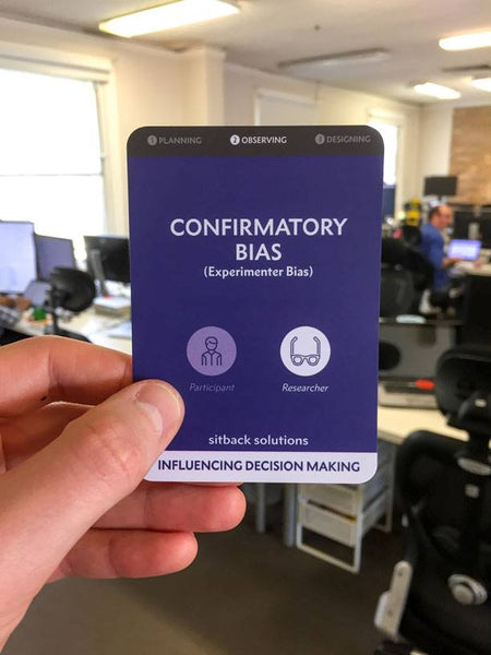 Confirmatory Bias Card - From Sitback
