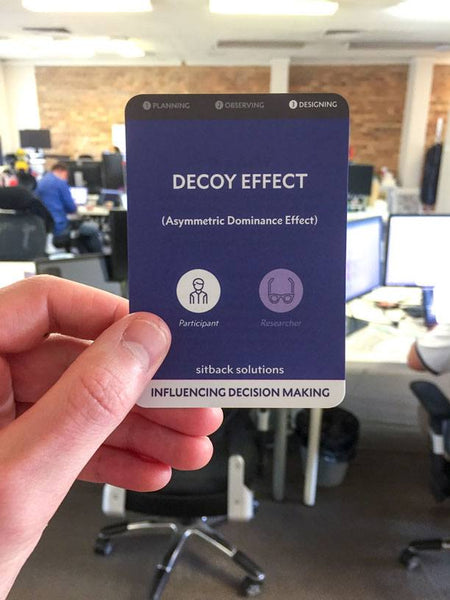 Decoy Effect Bias Card - From Sitback