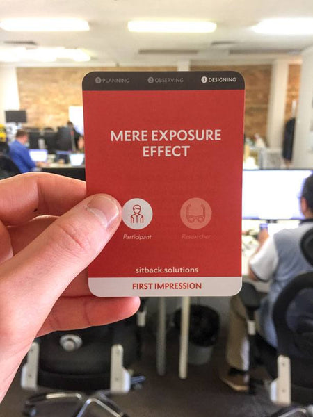 Mere Exposure Effect Bias Card - From Sitback