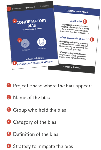 Bias Cards Instructions - From Sitback
