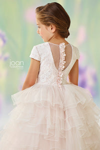 118329 Joan Calabrese Flower Girl Ivory/Petal Size 5 Sample