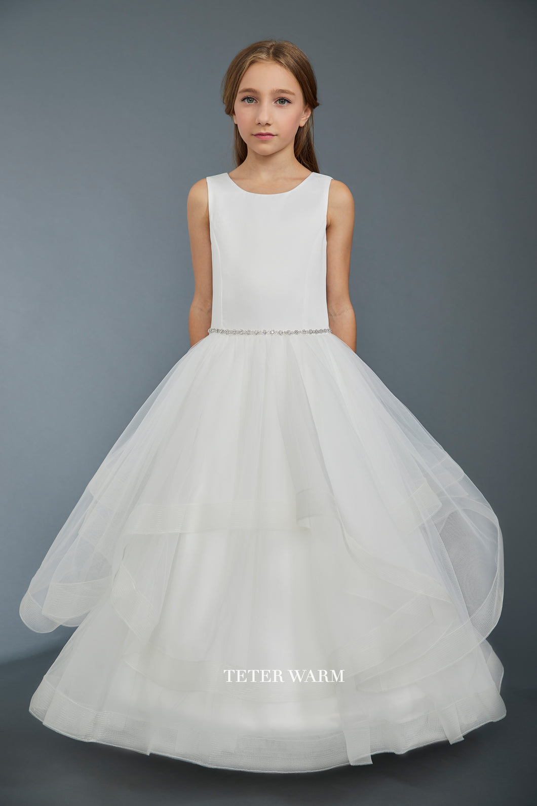 1401 Teter Warm Communion/ Flower Girl Dress