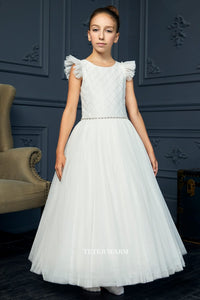 215 Teter Warm Communion/ Flower Girl Dress