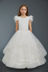 221 Teter Warm Communion/ Flower Girl Dress