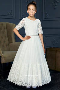 281 Teter Warm Communion/ Flower Girl Dress