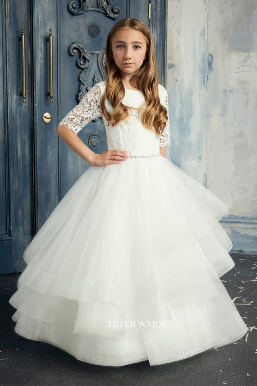 284 Teter Warm Communion/ Flower Girl Dress CUSTOM ORDER