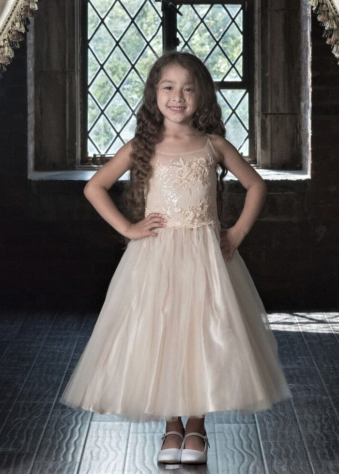 7803 Macis Design Flower Girl Dress Sample Dress