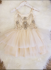 Champagne Flower Dress