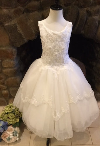 P1483 Christie Helene Communion Dress Sample 7 AND size 6 IN STOCK NOW