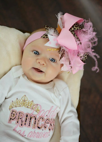 Daddy's Princess Has Arrived Embroidered Newborn Gown