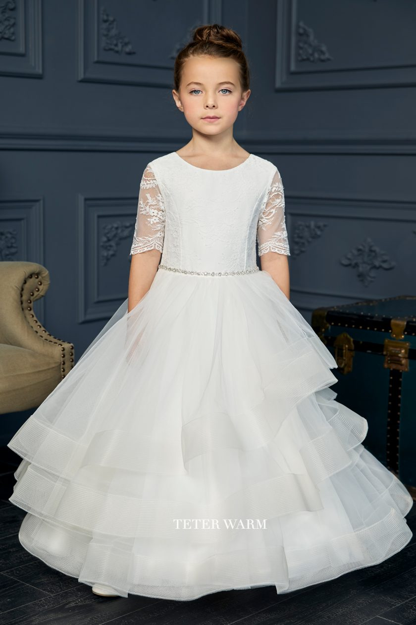 FR06 Teter Warm Communion/ Flower Girl Dress