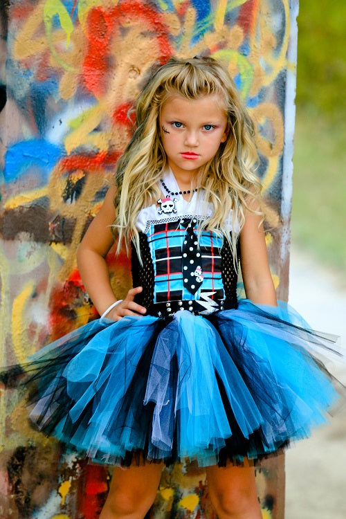 Frankiestein Monster High Inspired Tutu Dress