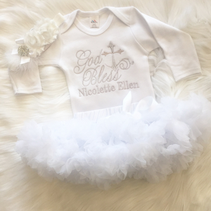 God Bless Personalized Christening Shirt