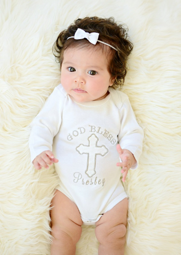 God Bless Personalized Cross Shirt