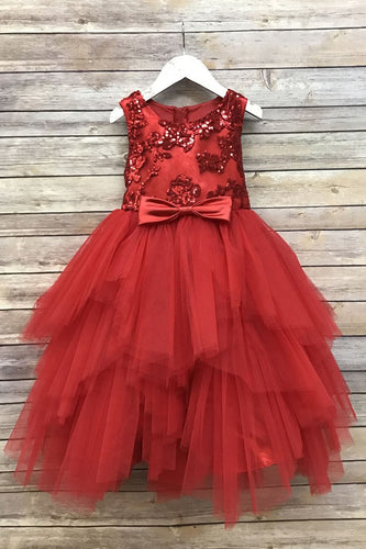 Holiday Tulle Red Dress