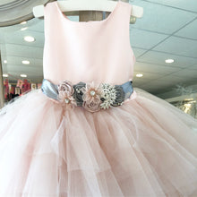 Peekaboo Blush Tulle Satin Dress
