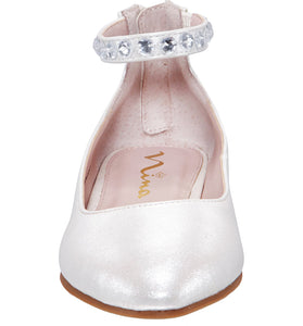 Mimi Ivory Pearlized Shoe - NINA SHOES