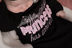 Mommy's Princess Has Arrived Embroidered Newborn Gown White