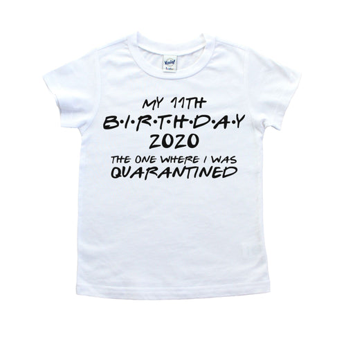 Birthday in Quarantine 2020 Shirt