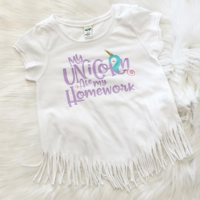 My Unicorn Ate My Homework Fringe Shirt
