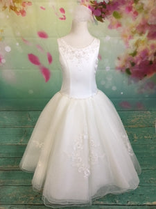 P1361 Christie Helene 2019 Communion Dress SAMPLE SIZE 8 IN STOCK NOW
