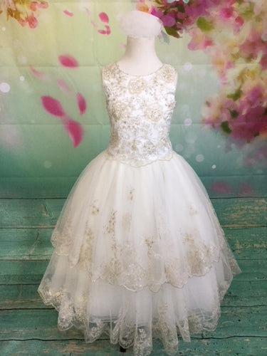 P1429 Christie Helene 2019 Communion Dress 8 IN STOCK NOW
