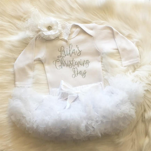 Personalized Christening Glitter Shirt