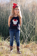 Personalized Minnie Glitter Shirt