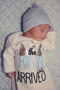 The King has Arrived Newborn Boy Gown
