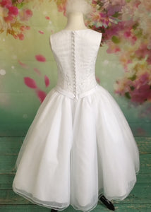UF8001S Christie Helene Communion Dress Size  10 IN STOCK NOW