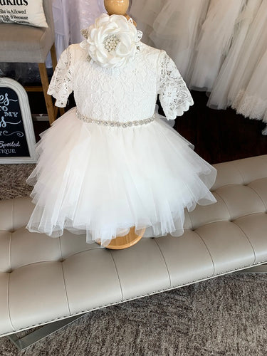 B44 Teter Warm High Low Christening/Flower Girl Dress