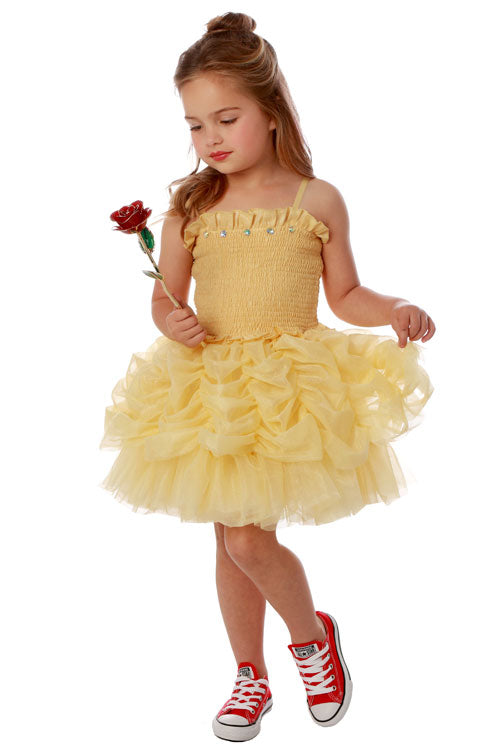 Yellow Lampshade Belle Dress by Ooh Ooh La La Couture Size 18 mths and 3