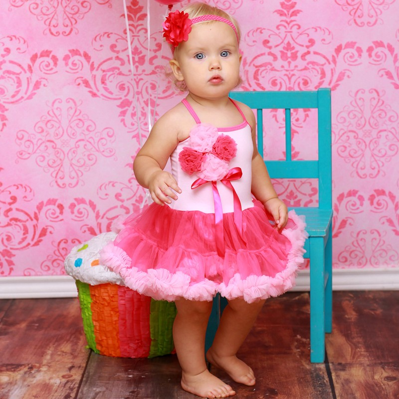 Hot Pink Cotton Candy Tutu Dress