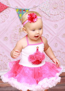 Hot Pink Cupcake Birthday Tutu Dress