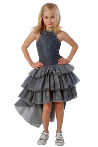 Platinum Chloe High Low Dress by Ooh Ooh La La Couture