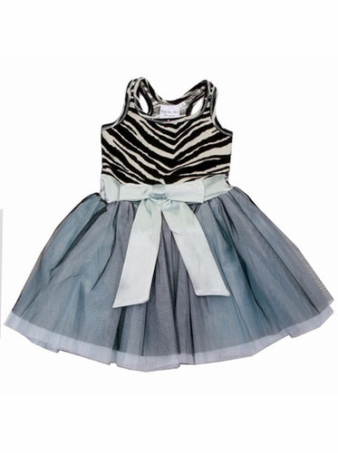 Zebra Bow Tie Dress by Ooh Ooh La La Couture