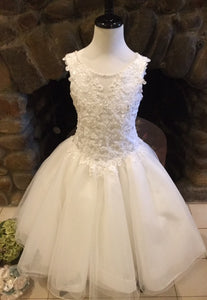 P1493 Christie Helene Communion Dress Sample  8 IN STOCK NOW