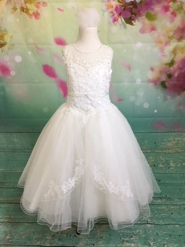 P1525 Christie Helene 2019 Communion Dress IN STOCK 7 and 8 NOW