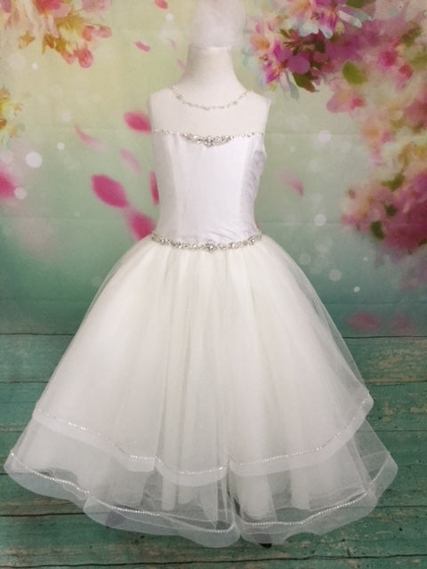 P1578 Christie Helene Communion Dress Size 7 and 8 IN STOCK NOW