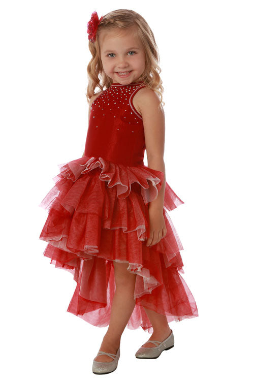 Red Chloe High Low Dress by Ooh Ooh La La Couture