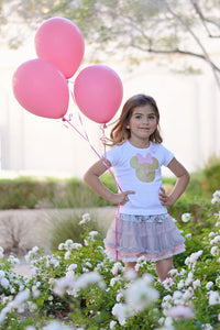 Pink and Gold Minnie Birthday Shirt