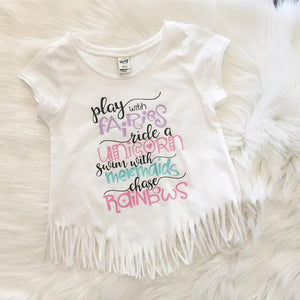 Play with Fairies Fringe Shirt