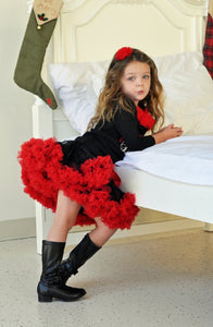 Red and Black Pettiskirt
