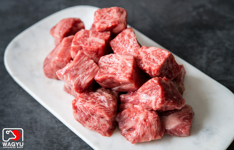 A5 Wagyu Beef Steak Cubes | A5 Japanese Wagyu Beef | Buy A5 Steak Bites | The Wagyu Shop