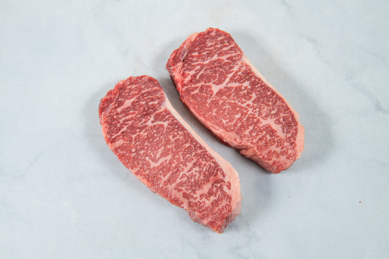 American Wagyu Beef Portioned Striploin Steaks