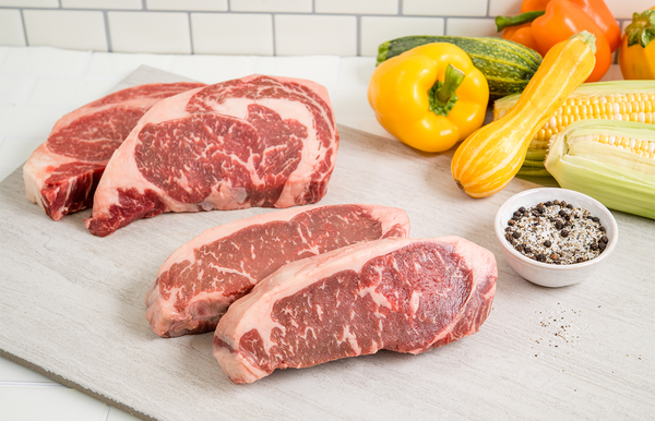 USDA Prime Angus Boneless Ribeye and Striploin | The Wagyu Shop