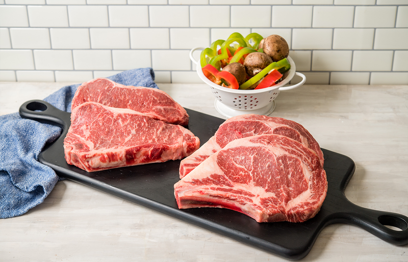 USDA Prime Angus Bone In Ribeye and Striploin | The Wagyu Shop
